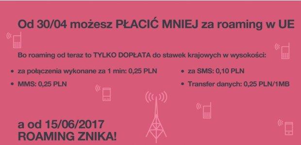 Tańszy roaming w Europie od 30/04