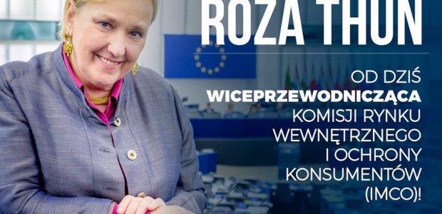 Sukces! Róża Thun od dziś wiceprzewodniczącą Komisji IMCO PE!